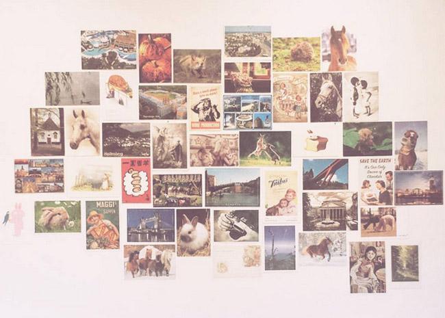 postcard wall begin