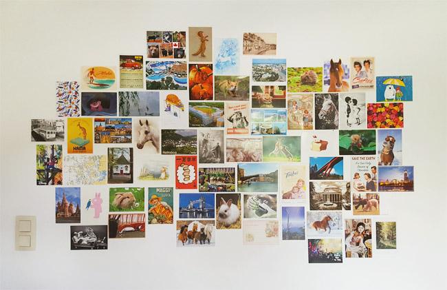 postcard wall september